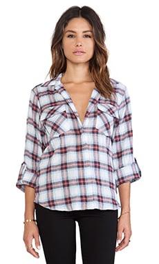 Sam Edelman Plaid Button Collar Shirt in Multi