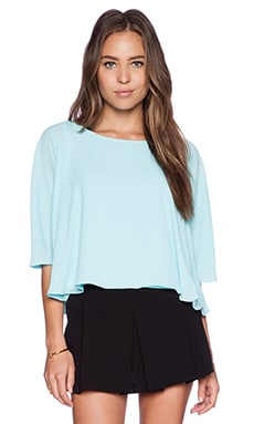 Sam Edelman Dolman Sleeve Flounce Tee in Light Blue