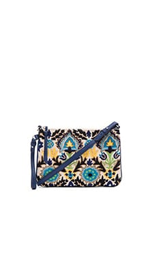 Kattie Embroidered Crossbody in Blues