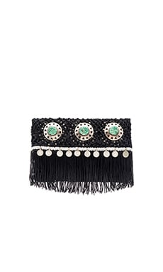 Lisa Fold Over Clutch in Black