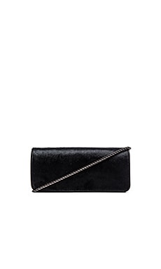 Sam Edelman Waverly Fringe Clutch in Black & Pewter