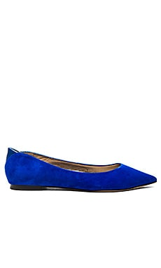 Sam Edelman Rae Flat in Blue Suede