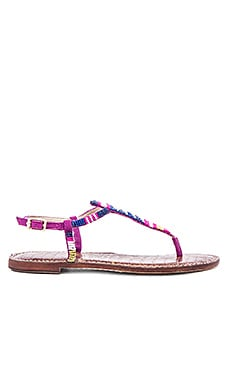 Sam Edelman Gail Sandal in Sailor Blue & Chartreuse Glow