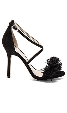 Aisha Heel in Black Suede