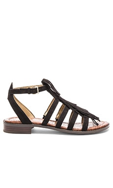 Sam Edelman Estelle Sandal in Black Suede