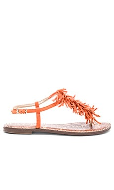 Gela Sandal in Orange Suede