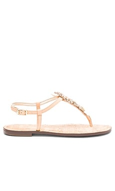 Gene Sandal in Natural Naked Leather