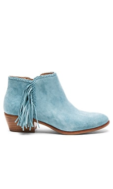 Paige Bootie in Blue Suede