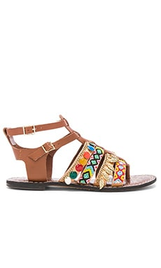 Lanai Sandal en Saddle & Multi