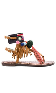 Gere Sandal in 駝色皮革