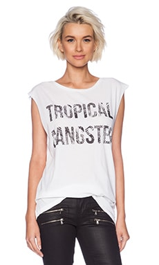 Samudra Tropical Gangster Tee in White
