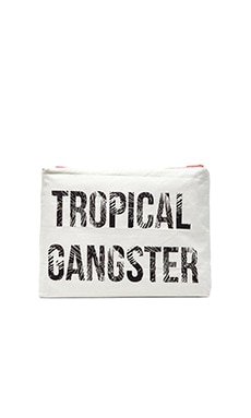 Tropical Gangster Pouch in White