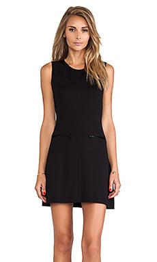 Zip Mod Molly Dress en Noir