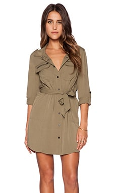 Village Shirt Dress in Safari