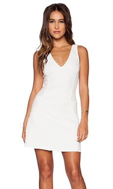 Spring Fit & Flare Dress in White