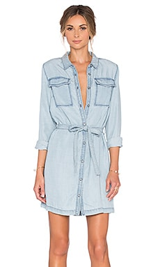Sanctuary Croquet Shirt Dress in Kaskade Wash