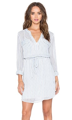 Spring City Shirt Dress in Laundry Stripe