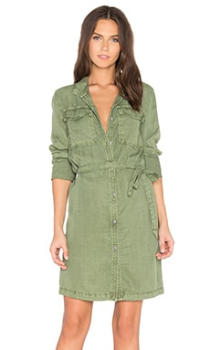 Army Girl Shirt Dress in Cactus