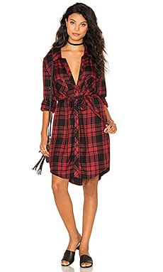 Jordane Shirt Dress in Dylan Plaid