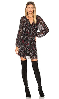 Cachet Boho Dress in Midnight Paisley