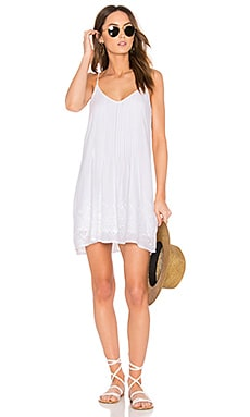 Reese Dress in White & Sand