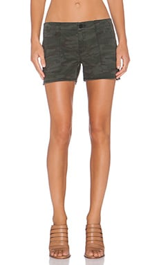Sanctuary Heritage Camo Shorty Shorts in Hunter