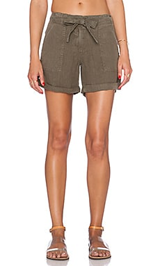 Sanctuary Sash Short in Brown Olive