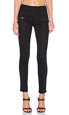 Slub Stretch Skinny Jean in Black