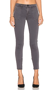 Sanctuary Union Zip Ankle Skinny in Mineral Grey