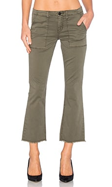 Peace Crop Pant in Fatigue