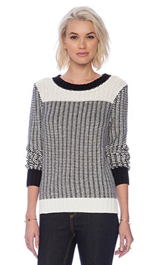Sanctuary 24/7 Popover Sweater in Black & White