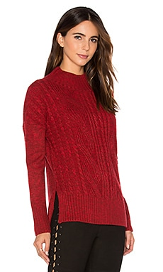 The Wonderer Sweater in Marled Scarlet & Dark Scarlet