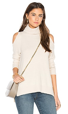 Cold Shoulder Turtleneck in Champagne