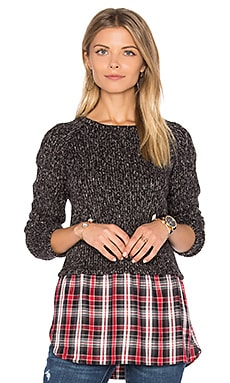 Rock House Pullover en Black Melange & Jagger Plaid