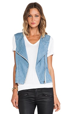 Denim Tomboy Vest in Blue Fin
