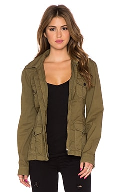 Sanctuary Street Smart Military Jacket in Country Green