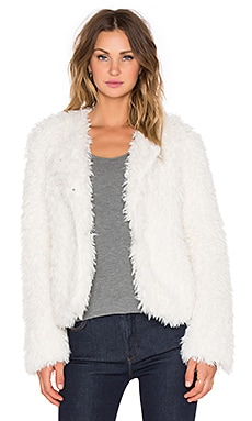 Sanctuary Unreal Fur Jacket in Natural