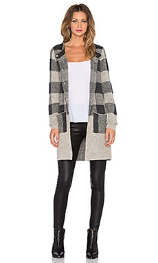 Sanctuary Essential Sweater Coat in Charcoal & Natural
