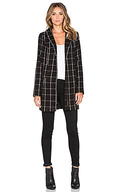 Sanctuary Avenue City Coat in Window Pane Plaid