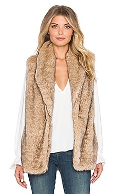Sanctuary Hollywood Faux Fur Vest in Fox