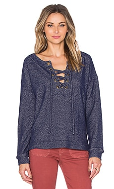 Lace Up Day Beacon Top in Marine