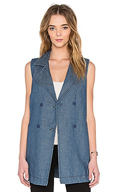 Sanctuary Walker Vest in Marine Wash