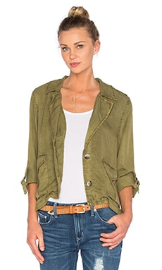 Sanctuary Desert Shirt Jacket in Moss