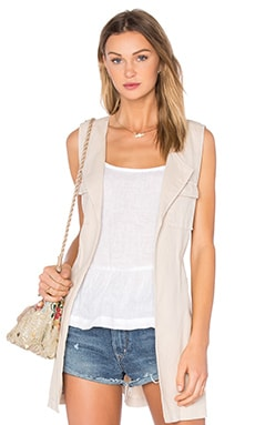 City Linen Duster Vest in Flax