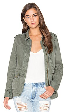 Studded Military Jacket in Military