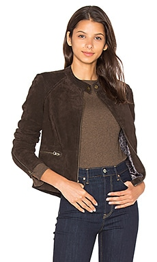 Jacqui Moto Jacket in Rich Chocolate