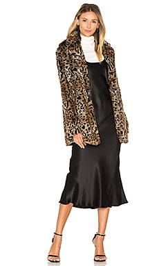 Kate Faux Fur Jacket in Leopard