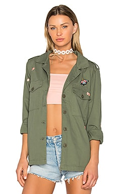 Flower Field Jacket in Cadet