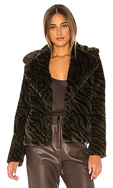 Wild Night Faux Fur Jacket Sanctuary $189 NEW ARRIVAL