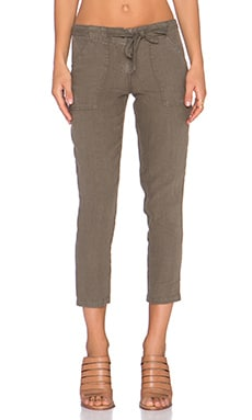 New Tappered Sash Pant en Marron Olive